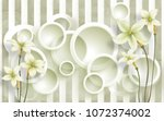 3d circle background with... | Shutterstock . vector #1072374002