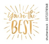 you're the best appreciation... | Shutterstock .eps vector #1072378568