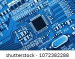 electronic circuit board close... | Shutterstock . vector #1072382288