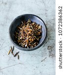 wild rice in bowl | Shutterstock . vector #1072386362