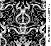 paisley floral  seamless...   Shutterstock .eps vector #1072389542