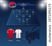 team serbia soccer jersey or... | Shutterstock .eps vector #1072390175
