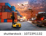 business logistics and... | Shutterstock . vector #1072391132