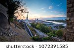 bratislava panorama at early... | Shutterstock . vector #1072391585
