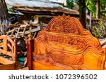 traditional swahili bed... | Shutterstock . vector #1072396502
