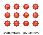 sale tags set vector badges... | Shutterstock .eps vector #1072398092