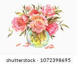 watercolor vintage illustration ... | Shutterstock . vector #1072398695
