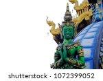 beautiful thai style angel...   Shutterstock . vector #1072399052