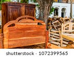 traditional swahili bed... | Shutterstock . vector #1072399565