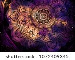 abstract ancient geometric with ... | Shutterstock . vector #1072409345