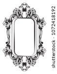 baroque frame decor vector.... | Shutterstock .eps vector #1072418192