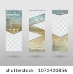 roll up banner template and... | Shutterstock .eps vector #1072420856