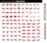singapore flag  vector... | Shutterstock .eps vector #1072427318
