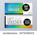 gift and discount voucher... | Shutterstock .eps vector #1072430315