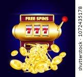 777 slots 3d machine with big... | Shutterstock .eps vector #1072435178