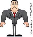 a cartoon businessperson... | Shutterstock .eps vector #1072437362