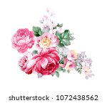 graceful flowers  the leaves... | Shutterstock . vector #1072438562