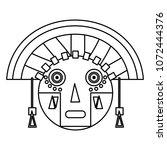 line aztec indigenous sculpture ... | Shutterstock .eps vector #1072444376