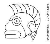 line indigenous ozamatli native ... | Shutterstock .eps vector #1072445396