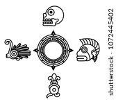line indigenous traditional... | Shutterstock .eps vector #1072445402