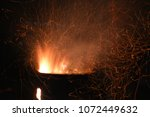 sparks flying in the night ... | Shutterstock . vector #1072449632