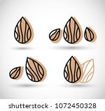 almond icon vector illustration | Shutterstock .eps vector #1072450328