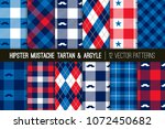 american hipster mustache... | Shutterstock .eps vector #1072450682