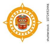 sun god and indigenous calendar ... | Shutterstock .eps vector #1072452446