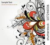 floral background | Shutterstock .eps vector #107246036