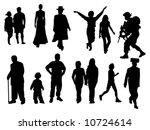various silhouettes including... | Shutterstock .eps vector #10724614