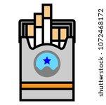 cigarette pack icon vector art...   Shutterstock .eps vector #1072468172