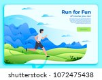 vector bright banner template... | Shutterstock .eps vector #1072475438