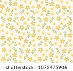 floral vector pattern. small... | Shutterstock .eps vector #1072475906
