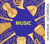 musical instruments composition.... | Shutterstock .eps vector #1072480316