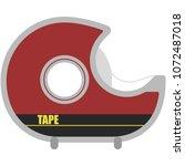 tape dispenser illustration  ...   Shutterstock .eps vector #1072487018