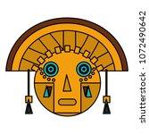 color aztec indigenous... | Shutterstock .eps vector #1072490642