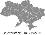 ukraine map vector outline... | Shutterstock .eps vector #1072492208
