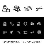 airport icon set and hotel with ...