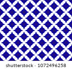 seamless thai pattern  blue and ... | Shutterstock .eps vector #1072496258
