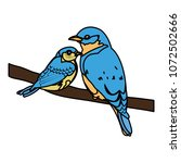 color beauty bird animal with...   Shutterstock .eps vector #1072502666