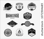 vector of badge series   Shutterstock .eps vector #1072504685