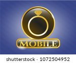 golden emblem or badge with...   Shutterstock .eps vector #1072504952