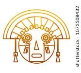 degraded line aztec indigenous... | Shutterstock .eps vector #1072508432