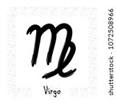 virgo vector zodiac sign  hand... | Shutterstock .eps vector #1072508966