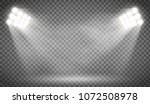 searchlight illuminates the... | Shutterstock .eps vector #1072508978