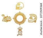 degraded line indigenous... | Shutterstock .eps vector #1072509368