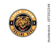 tiger head logo round emblem... | Shutterstock .eps vector #1072512146