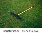 golf course bunker rake on... | Shutterstock . vector #1072512662