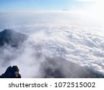 the ash cone viewed at the... | Shutterstock . vector #1072515002