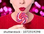 beautiful woman femal hand... | Shutterstock . vector #1072519298